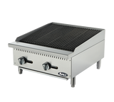 "Atosa ATRC-24 24"" Countertop Radiant Gas Charbroiler - Champs Restaurant Supply 