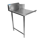 "BK Resources BKCDT-60-L 60"" Left Stainless Steel Clean Dish Table with Galvanized Legs"