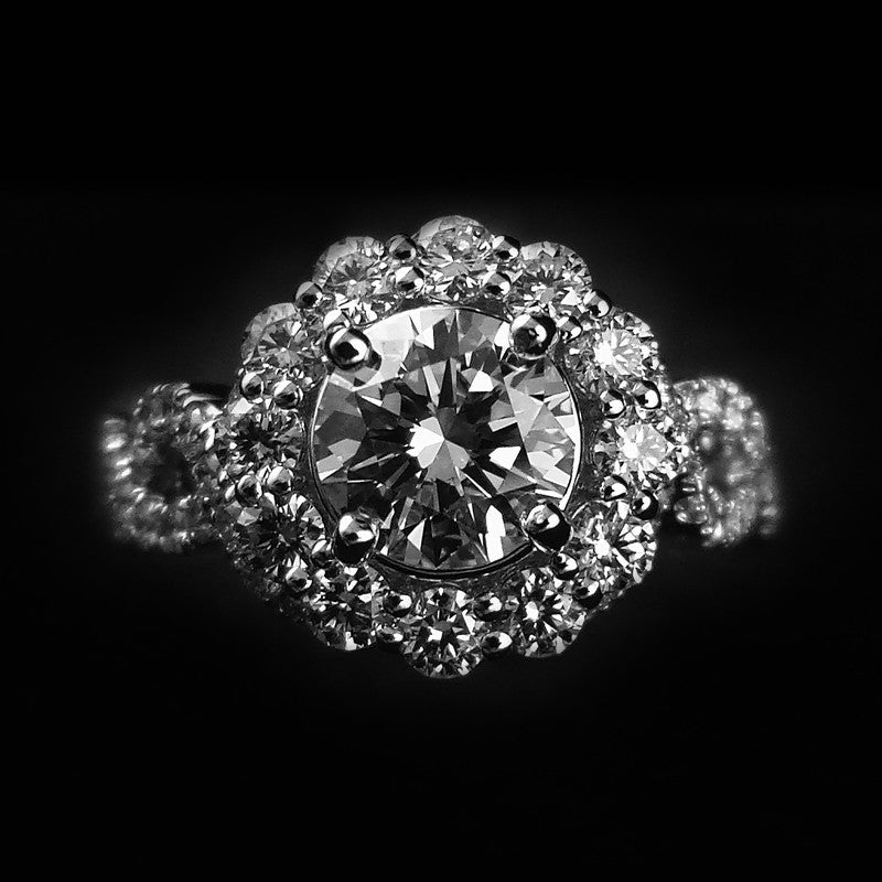 Diamond Ring in 18K Gold (WG) (แหวนเพชร 1.15cts)