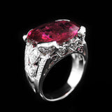 Rubellite with Diamonds Ring in 22K Gold (แหวน Rubellite ประดับเพชร)