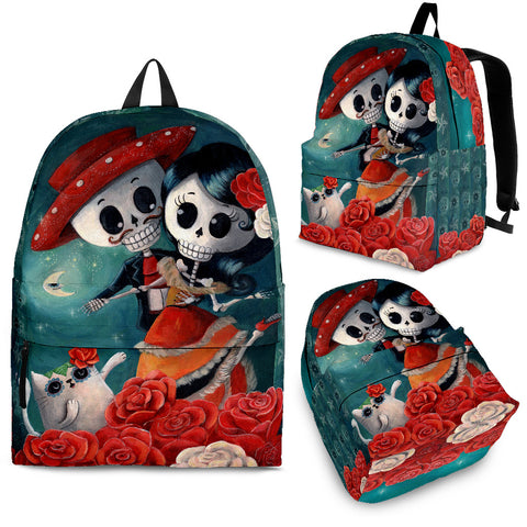Day of the Dead Dancing Couple Backpack