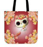 Day of the Dead Desert Cat Tote Bag - MyGearGlobal
