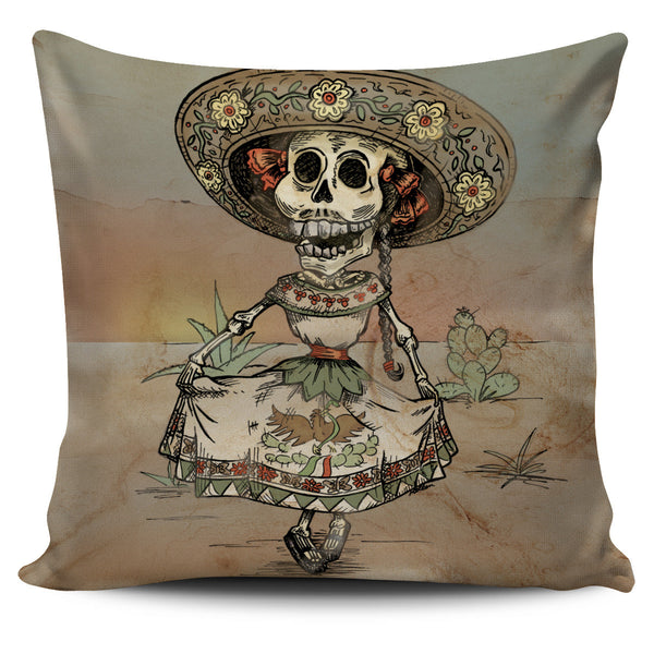 Day of the Dead Skeleton Throw Pillow Cover - MyGearGlobal