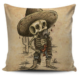 Day of the Dead Skeleton Throw Pillow Cover