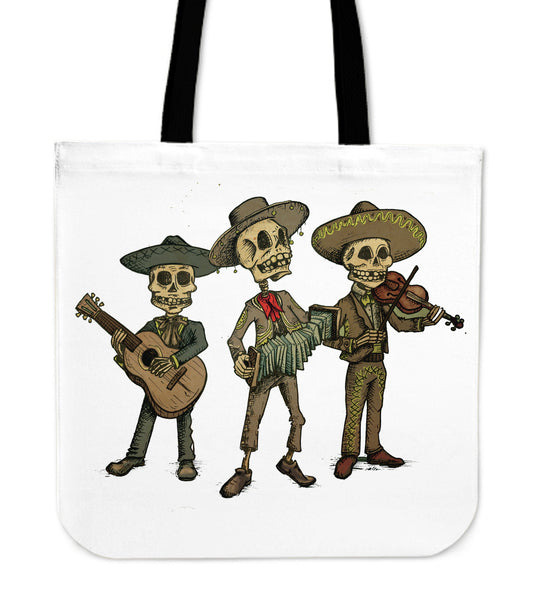 Skeleton Band white Tote Bag - MyGearGlobal