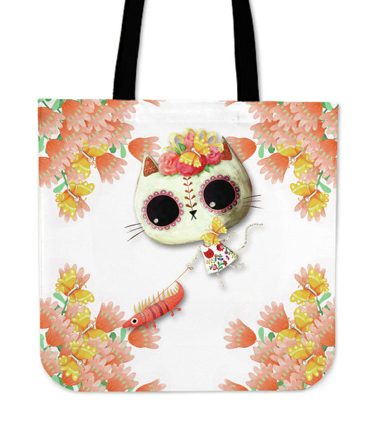 Cat Dead Day Of The Desert Bag White Mygearglobal Tote I6bvYgmf7y