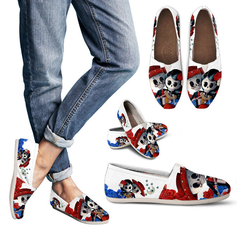 Day of the Dead Couple 1 Women's Casual Shoe - MyGearGlobal