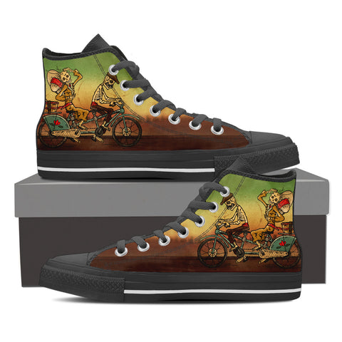Day of the Dead Tandem Couple Men's High Top