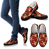 Day of the Dead Desert Cat Women's Slip-on Shoes - MyGearGlobal