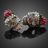 Sugar Skull Rhinestone Earrings - 75% OFF! - MyGearGlobal