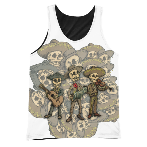 Day of the Dead Band Graphic/Black Tank - MyGearGlobal