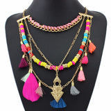 Colorful Beaded Tassel Necklace - MyGearGlobal