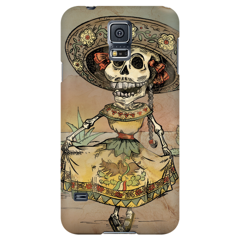 Day of the Dead Senora Skeleton Phone Cases