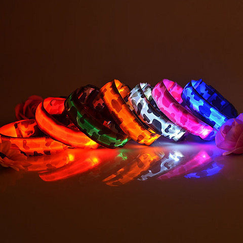 Camo Nylon LED Pet Collar - MyGearGlobal