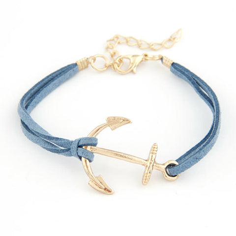 Leather Rope Anchor Bracelet - MyGearGlobal