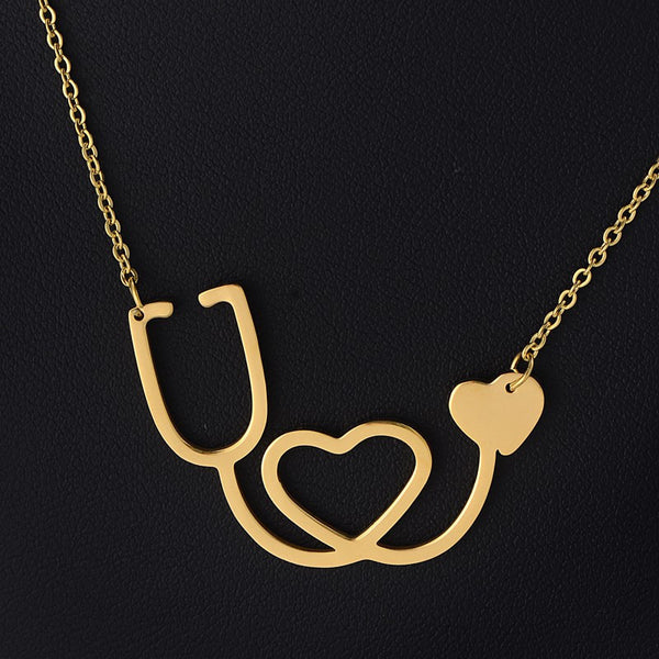 Stethoscope Heart Necklace - MyGearGlobal