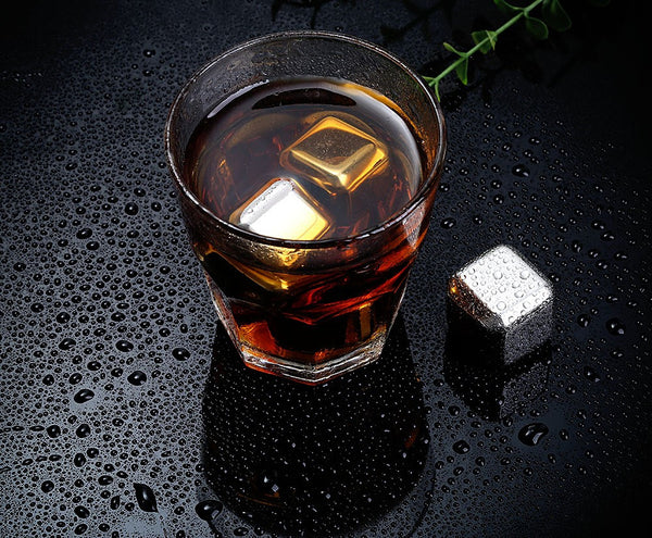 Stainless Steel Whiskey Cubes - Set of 4