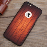 Wood Grain iPhone 6/6s Case with Tempered Glass