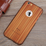 Wood Grain iPhone 6/6s Case with Tempered Glass - MyGearGlobal