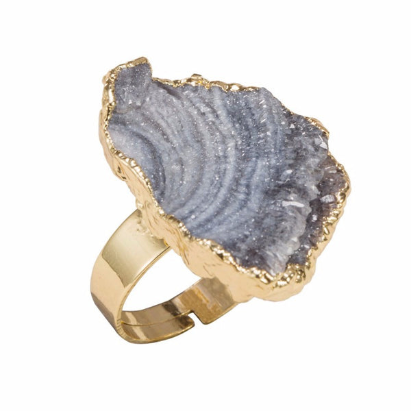 Natural Crystal Druzy Ring - MyGearGlobal
