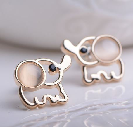 Elephant Rhinestone Earrings - MyGearGlobal