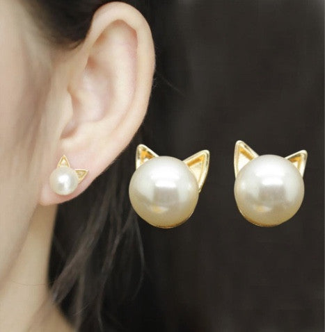 Cat Pearl Earrings FREE Offer - MyGearGlobal