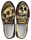 Day of the Dead Skeleton Women's Slip-on Shoes - MyGearGlobal