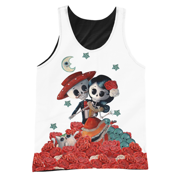 Day of the Dead Couple Graphic/Black Tank