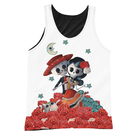 Day of the Dead Couple Graphic/Black Tank - MyGearGlobal