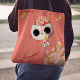 Desert Cat Peach Tote Bag - MyGearGlobal
