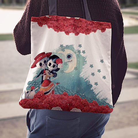 Skeleton couple White Tote Bag - MyGearGlobal