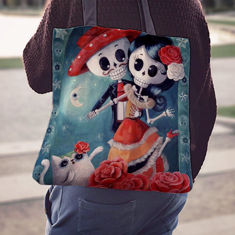 Skeleton Couple Tote Bag - MyGearGlobal
