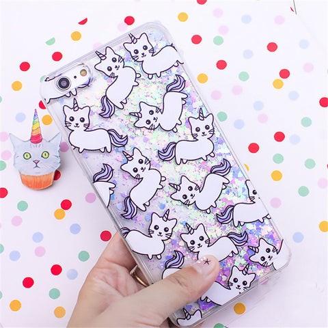 Caticorn Glitter iPhone Case