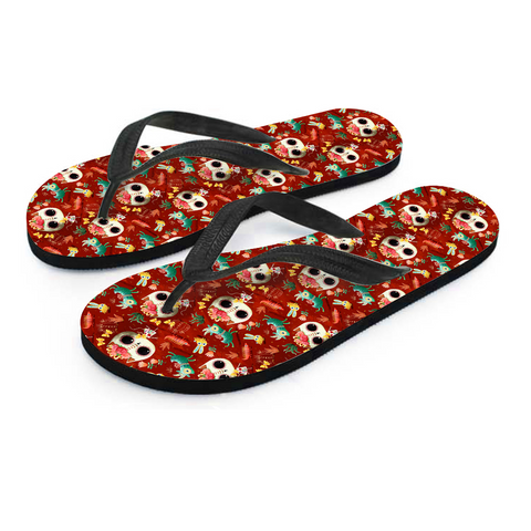 Day of the Dead Desert Cat Men's Flip Flops