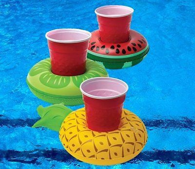 Fun & Fruity Inflatable Drink Holder