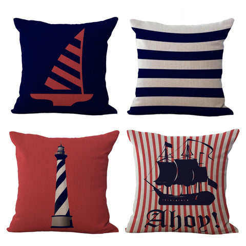 Nautical Throw Pillow Cover - MyGearGlobal