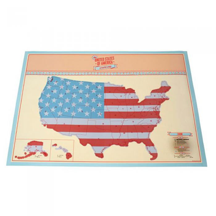 Holiday Road USA Scratch Map – MyGearGlobal