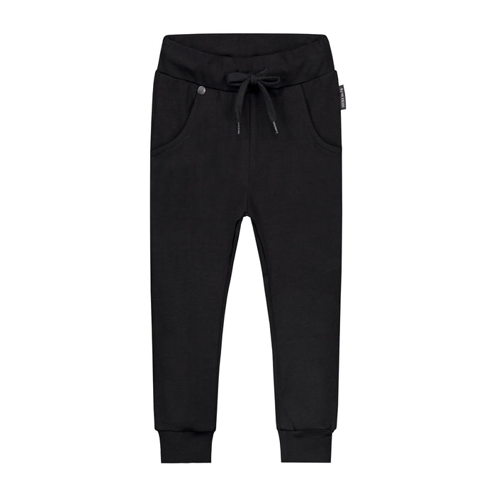 BLACK BAGGY PANTS - Lucky No.7