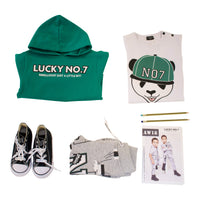 PANDA T-SHIRT BOYS - Lucky No.7