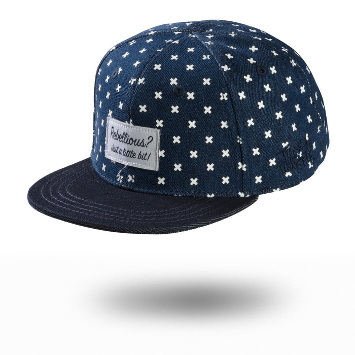 DENIM KRISS KROSS CAP - Lucky No.7