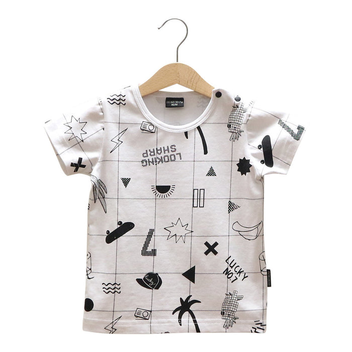 LNO7 GRID T-SHIRT - Lucky No.7