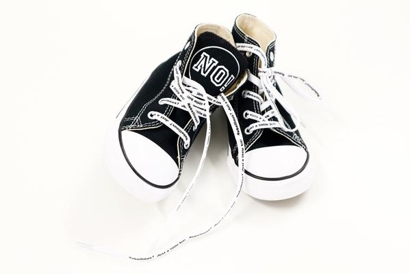 NO! CONVERSE SNEAKERS BLACK - Lucky No.7