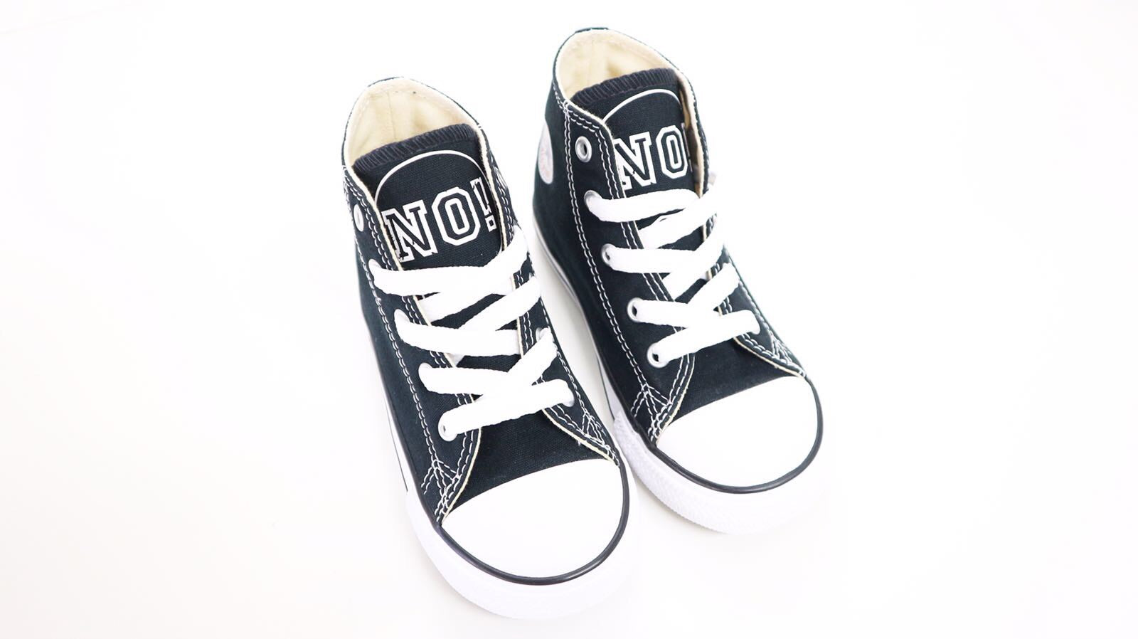 (PRE-ORDER) NO! CONVERSE SNEAKERS BLACK - Lucky No.7