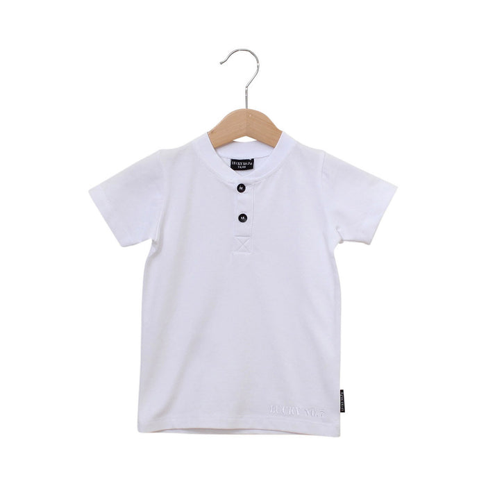 white basic t-shirt, shirt, shirtje, lucky no.7, wit, boys fashion, kids fashion, jongens mode, kinder mode, baby fashion