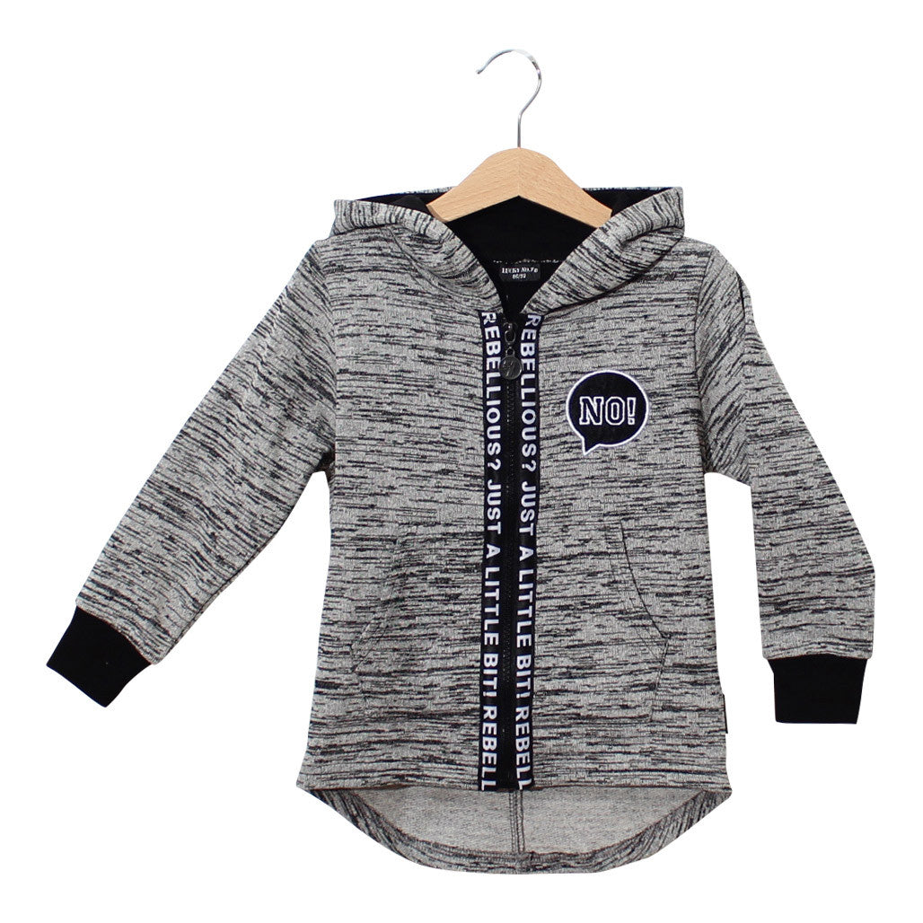 lange vest, long sleeve, zwart, wit, rebellious, lucky no.7, grijs, zwart, wit, grey, white, black, vest, lange vest, coat, boys fashion, baby fashion, baby mode, kinderkleding, jongens mode
