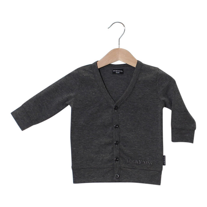 little grey cardigan, grijs, vestje, baby fashion, baby mode, kinder mode, lucky no.7, jongens mode, kids fashion, boys fashion,