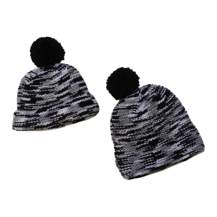 BLACK MELEE KNITTED HAT - Lucky No.7