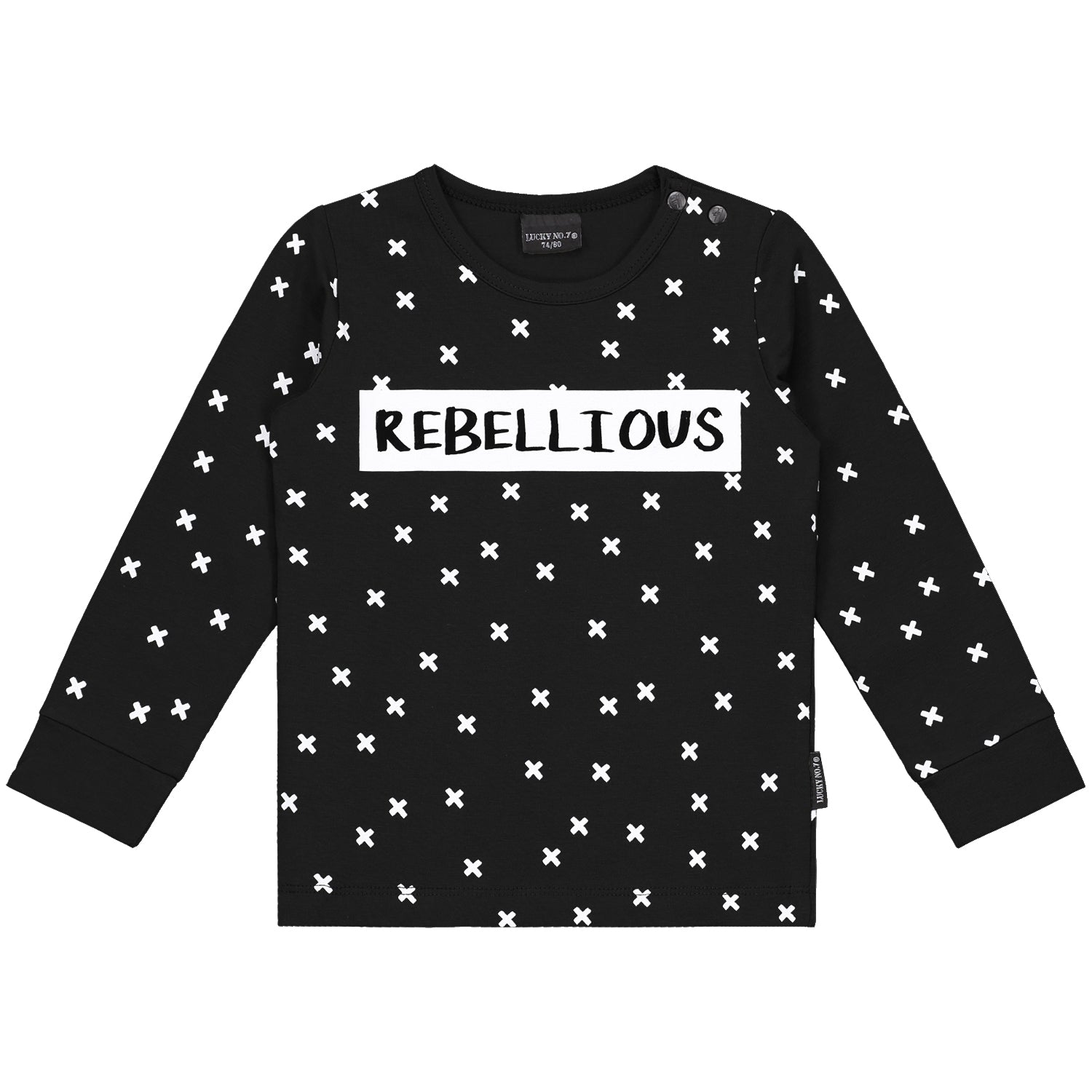 KRISS KROSS BLACK LONGSLEEVE - Lucky No.7