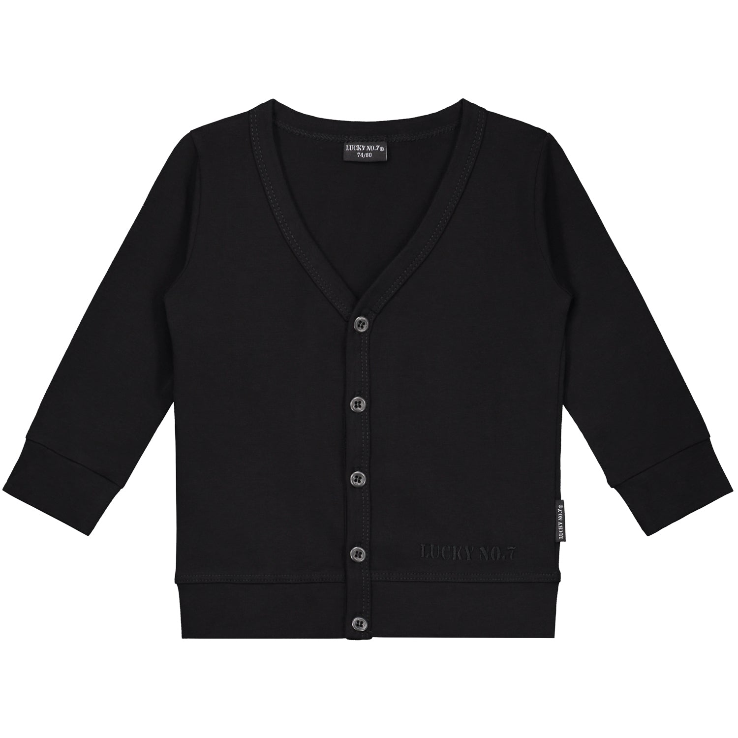 LITTLE BLACK CARDIGAN - Lucky No.7