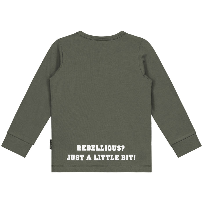 NO! ARMY GREEN LONGSLEEVE - Lucky No.7